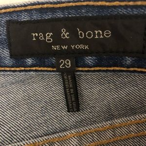 Rag & Bone Frayed and Flare Bottom Jeans